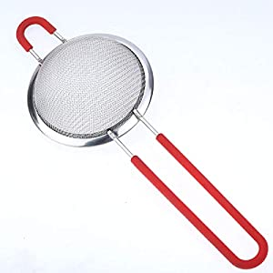 Szxc Fine Mesh Food Strainers Set - 3 Pack (5 Cup + 2 Cup + 2/3 Cup) - Sifter Strainer for Pasta Rice Quinoa Tea Juice… |