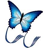 BSTQC Cometa de Mariposa Azul, Hermosa Cometa de Mariposa Azul para Juegos y Actividades al Aire Libre, Cometa, Juguetes voladores, Cometa de Animales para niños y Adultos