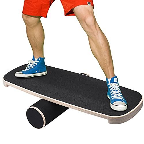 InLoveArts Tabla de Equilibrio de Madera, Tabla de Equilibrio de Fitness de torsión para músculos Abdominales y piernas, Tabla de Equilibrio de Fitness