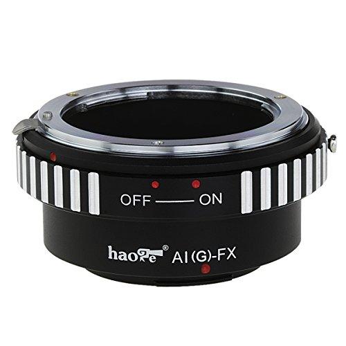 Haogeレンズマウントアダプタfor Nikon Nikkor GレンズをFujifilm x-mountカメラなどx-a1、x-a2、x-a3、x-a10、x-e1、x-e2、x-e2s、x-m1、X - pro1、x-pro2、X - t1、x-t2