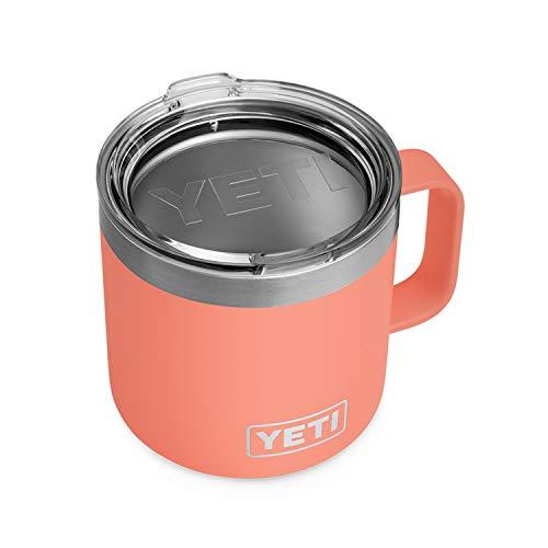 Yeti Rambler Becher, Edelstahl, vakuumisoliert, mit Standard-Deckel, 400 ml