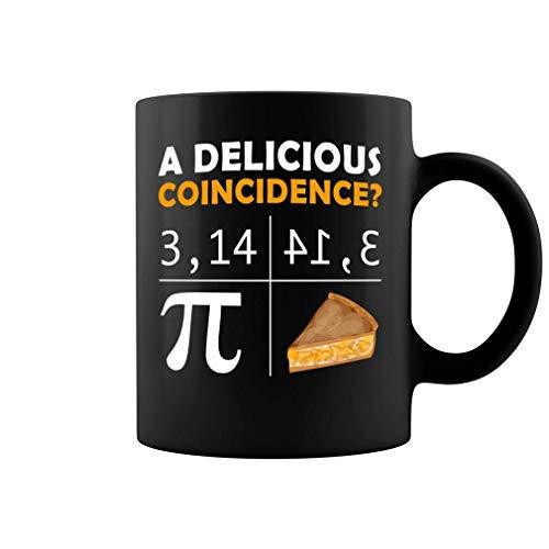 The Pi Number And A Sweer Pie Una deliciosa taza de café de coincidencia - 11 oz Negro Regalo para amigo Amante Maestro Padre Madre En el día de la madre Día del padre Día de graduación Día de graduac