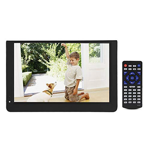 Digital TV, Analog Televisions Car Television with Freeview DVB-T-T2 1024x600 Resolution Portable Digital TV for for Bedroom, Kitchen, Caravan, Car. (12inch)