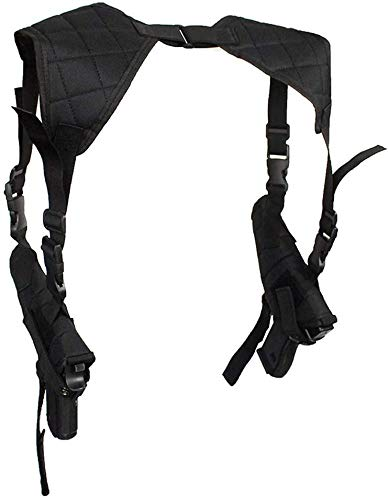 hothuishi Tactical Shoulder Holsters for Pistols, Underarm Vertical Shoulder Holster, Concealable Double Shoulder Gun Holster Pouch with Adjustable Straps for Police Security, Black
