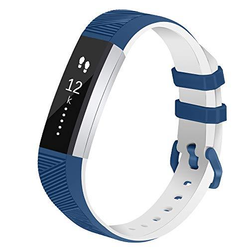 Vozehui Cinturino di ricambio compatibile per Fitbit Alta/Alta HR, regolabile Sport Smartwatch Fitness Wristband con morbido silicone per donne e uomini