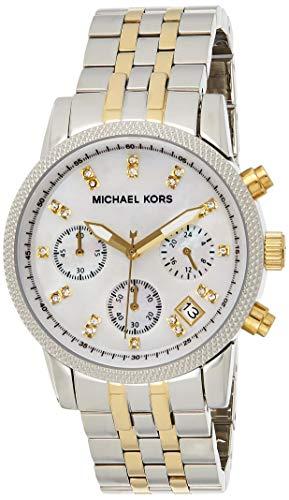 Michael Kors Reloj Cronógrafo para Mujer de Cuarzo con Correa en Acero Inoxidable MK5057