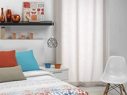 CAÑETE - Visillo con ollaos SEFAR 140x270 cm - Color Visón