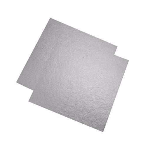 DOITOOL 2 Stück Wellenleiterabdeckung Glimmerplatten Mikrowelle Reparatur von Teilplatten Mikrowelle Ersatzteile für Mikrowelle (5. 1 X 5. 1 Zoll)