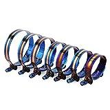 2 Unidad de 1,75' a 3,75' 45 mm a 105 mm de Acero Inoxidable T-Bolt Manguera Abrazadera del Clip Ajustable Kit Universal de Titanio Final Azul Abrazaderas de Tubo (Color : 59 to 67mm)