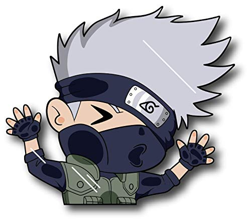 Bluement Designs Team Kakashi - Funny Peeking Glass Naruto Anime Stickers Accessories for Car, Window, Laptop, Hydroflask, Waterbottle (4.5 inches)