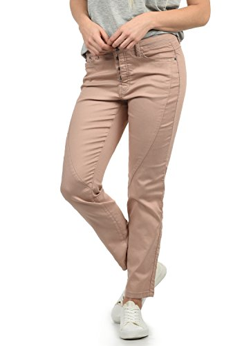 DESIRES Elbja Damen Jeans Denim Hose Boyfriend-Jeans Aus Stretch-Material Loose Fit, Größe:40, Farbe:Mahog. Rose (4203)