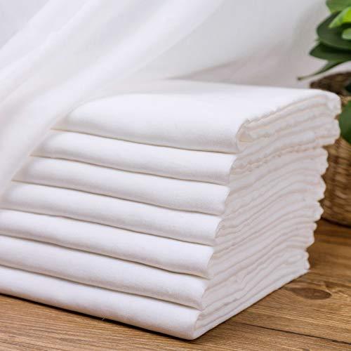 ZAIXO Doble Capa Pura Toalla de algodón Blanco paño de la Gasa del bebé de la Saliva del pañal de Tela de algodón Tela de Alimentos Grademedical al por Mayor 100% algodón Tela