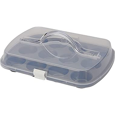 T-fal 84848 Signature Nonstick Covered Muffin Pan, 12-Cup