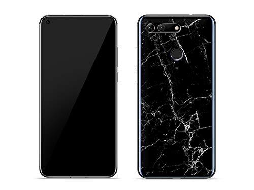 etuo Hülle für Huawei Honor View 20 - Hülle Fantastic Hülle - Schwarze Marmor - Hülle Schutzhülle Etui Hülle Cover Tasche für Handy