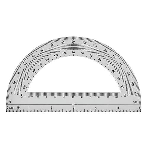 Office Depot Semicircular 6in. Protractor, Clear, 973D OD8 Photo #2