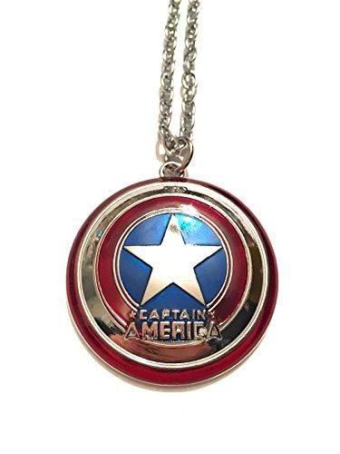 giulyscreations Collana Metallo Nichel Free Captain America Scudo Capitan America Supereroi Avengers The Winter Soldier Steve Rogers Fantasy Cosplay