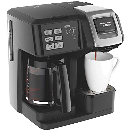 Hamilton Beach FlexBrew 2-Way Coffee Maker, Full-Pot or Single Serve 49957 (Renewed)