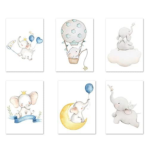 Póster De Arte Para Habitación De Niños, 6 Pcs Impermeable Póster Baby Room Art Print, Pósteres Para Habitación Infantil, Cuadros De Pared A4 Para Habitación De Bebé, para Decoración