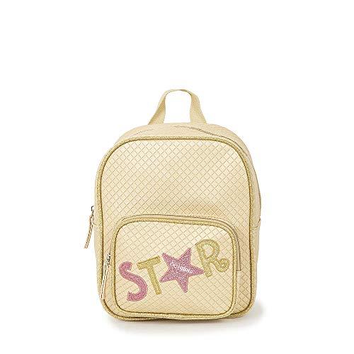 Cloe - Bolso Backpack Color Oro para Niña en Glitter
