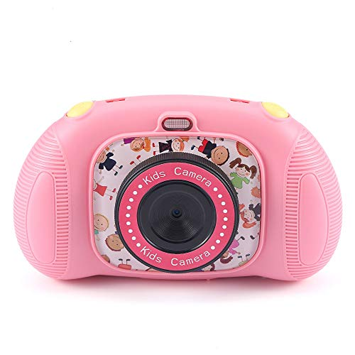 Fede Kids Digital Camera with 25 Games, Rechargeable Selfie Camera for Boys and Girls,Digital Child Camcorder with 2.4 inches Screen,HD 12MP/1080P Dual Lens,Shockproof Cameras with 32GB TF Card