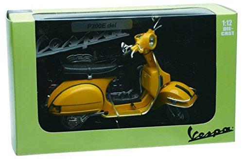 NewRay Motorbike 42214 - Vespa P200E 1978 Fedele Riproduzione, Scala 1:12, Die Cast, Giallo