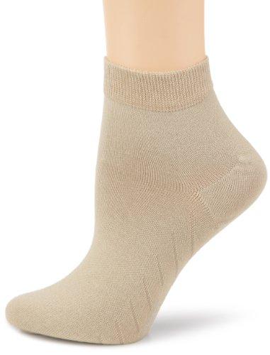 KUNERT Damen Socken 225500 Fresh Up, Gr. 39-42, Beige (Flachs 8390)