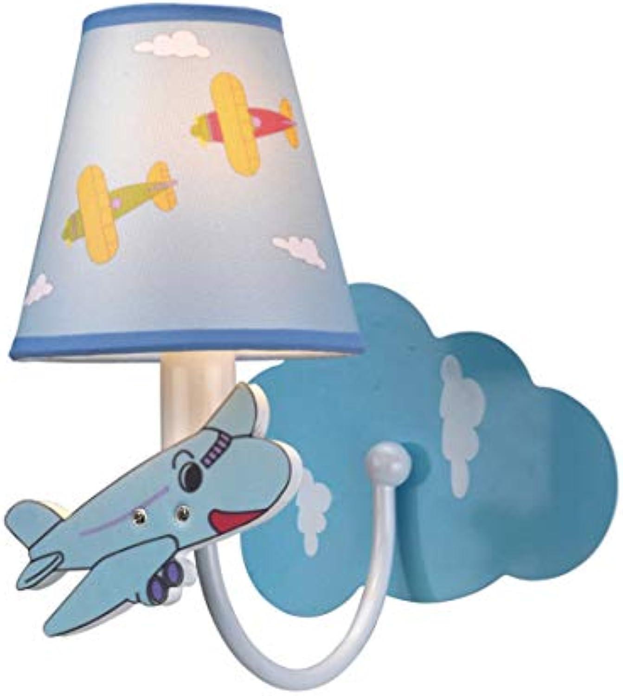 Xiuxiu Kinderzimmer Cartoon Flugzeug Wandlampe Warm Boy energiesparende Wandlampe Baby Schlafzimmer Nacht Dekoration Nachtlicht Lampen