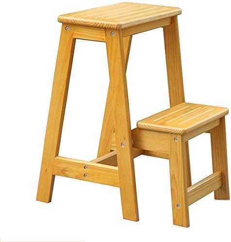 SongL Taburete de paso para el hogar, madera maciza, uso escalonado, madera, plegable, multifunción, plegable, portátil, alta