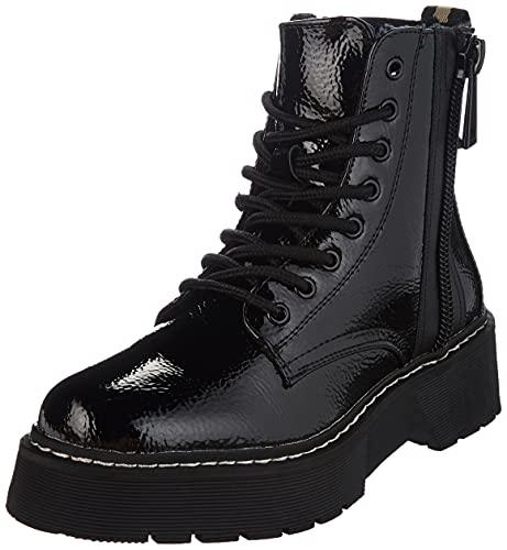 Tom Tailor Damen 2196402 Halblange Stiefel, Black, 41 EU