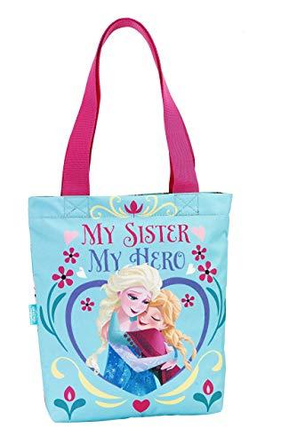Disney Frozen Elsa und Anna Einkaufstasche Shopper, blau, 31 x 30 cm