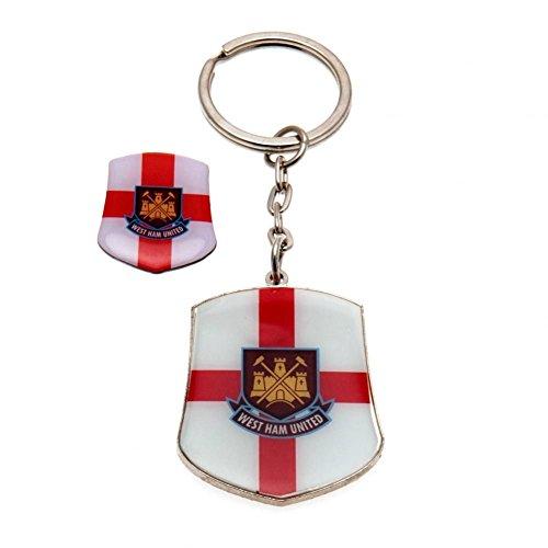 West Ham Club badge en sleutelring - veelkleurig