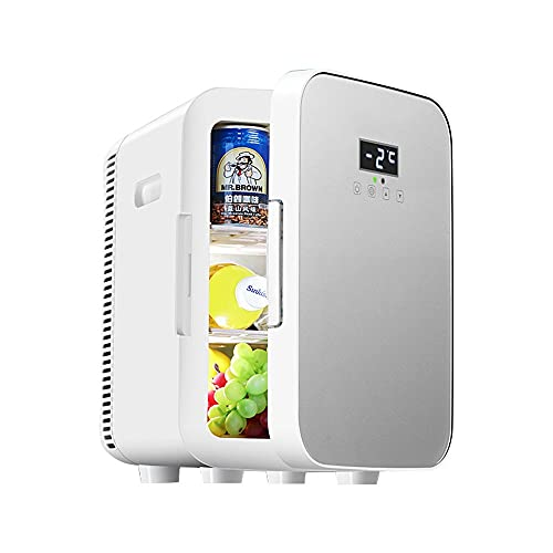Refrigerador,Mini Nevera Portátil para El Skincare 15L,Nevera para Coche, Camión, Barco Y Autocaravana, 12V/220V,Nevera Portátil De Compresor, para Enfriar Y Calentar