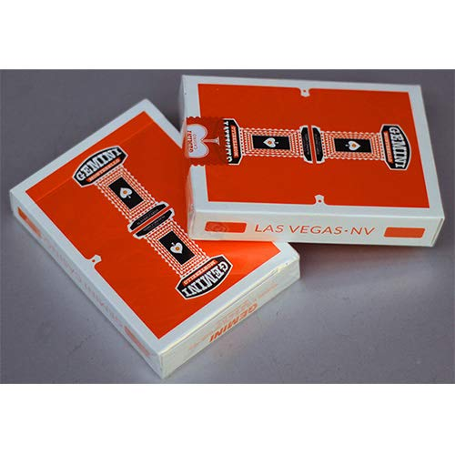 SOLOMAGIA Gemini Casino Orange Playing Cards by Toomas Pintson - Zaubertricks und Props