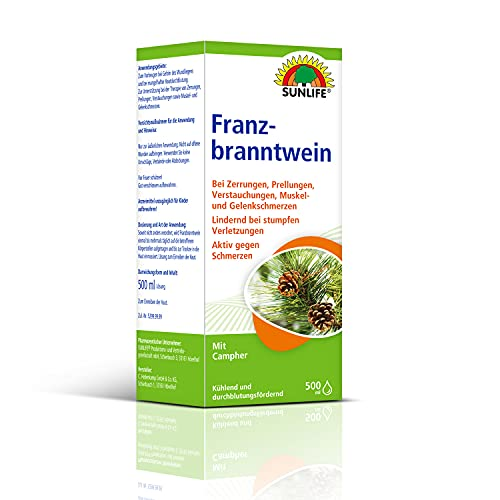 SUNLIFE Franzbranntwein mit Campher: durchblutungsfördernd und wärmend, 500ml