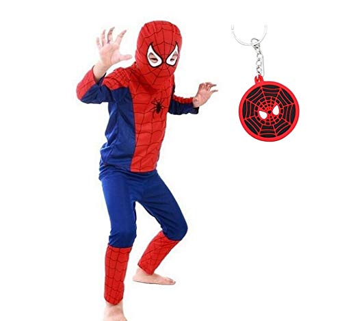 La Senorita Spiderman Disfraz Costume Niños Súper Hero + Spiderman Llavero Gratuito (3-4 años - 104-110)