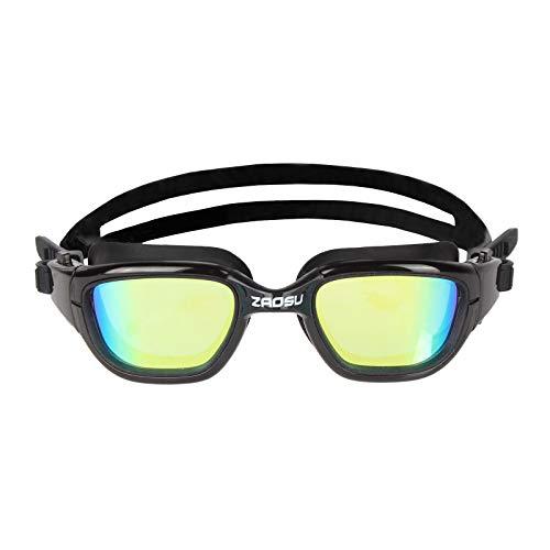 ZAOSU Blaze Freiwasser Schwimmbrille | Openwater Schwimmbrille für Triathleten, Farbe:Gold