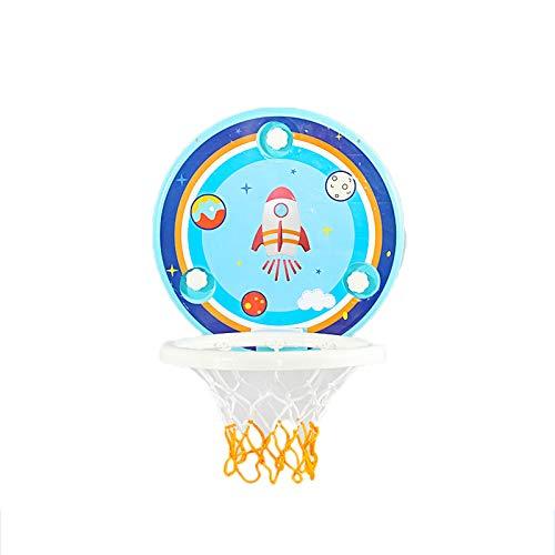 ZXCVB Aro del Baloncesto del niño, el Baloncesto del bebé Interior se Puede Ajustar el Material plástico montado en la Pared del Juguete de Dibujos Animados Rockets-Music