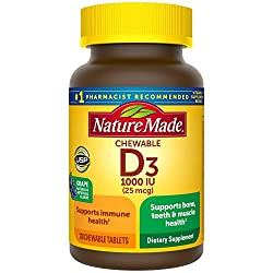 vitmain D chewables Nature Made 1000 IU