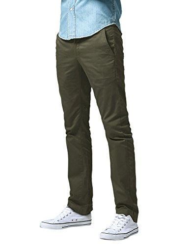 Match Men's Slim Fit Straight Leg Casual Pants (34, 8125 Army Green)
