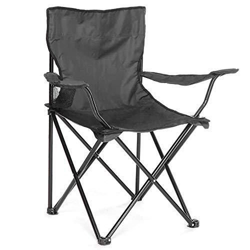 Arcoiris Silla de Camping, Silla de Acampada Plegable 4 Unidades(Negro 4pack)