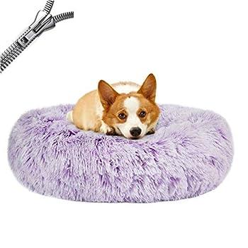 Puppy Love Panier Chien, Coussin Chien Anti Stress XXXL Lavable - Orthopedique Panier Chien Anti Stress, Paniers Et Mobilier pour Chiens Dehoussable Rond Apaisant #1-60cm