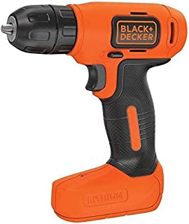 Black+Decker 7.2V Li-Ion Cordless Electric Compact Drill Driver for Screwdriving & Fastening, Orange/Black - BDCD8-B5, 2 Y...