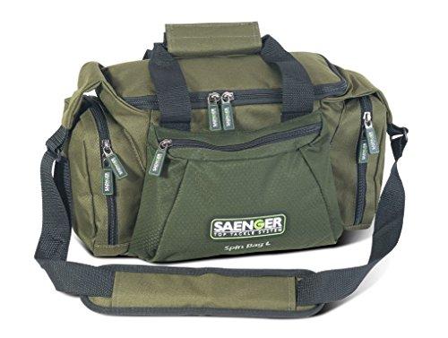 SAENGER Spin Bag, Taschen zum Spinnfischen in 2 Größen, inkl. 3 Köderboxen, wasserbweisend, Material: 600D Polyester (SAENGER Spin Bag L)