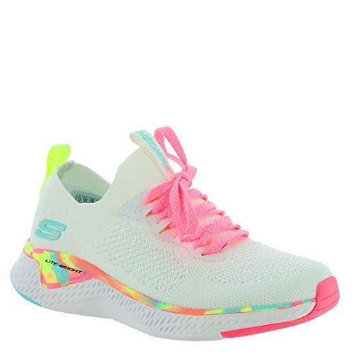 Skechers 302040l-wmlt_34, Zapatillas Deportivas Mujer, Blanco, EU