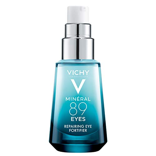 Vichy Mineral 89 Eyes Serum with Caffeine and Hyaluronic Acid, Lightweight Eye Cream Gel to Smooth Fine Lines and Hydrate Eye Area, Suitable for Sensitive Skin \u0026amp; Fragrance Free