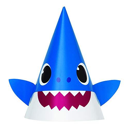 Unique Baby Shark Party Hats - 8 Pcs, Multicolor, One Size