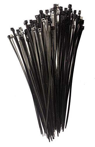 Preisvergleich Produktbild Kabelbinder 290mm schwarz 100Stck. - Premiumqualität von PC24 Shop & Service