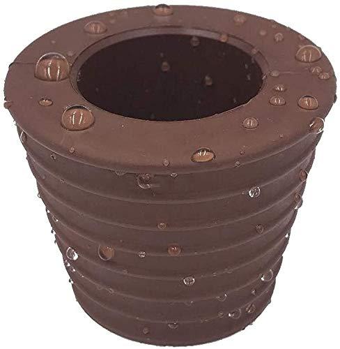 HTTH Tapón cónico para mesa de terraza, paraguas, cono y cuña para sombrilla, anillo perforado y tapa, para patios, diámetro de 1,5 pulgadas o más pequeño (marrón)