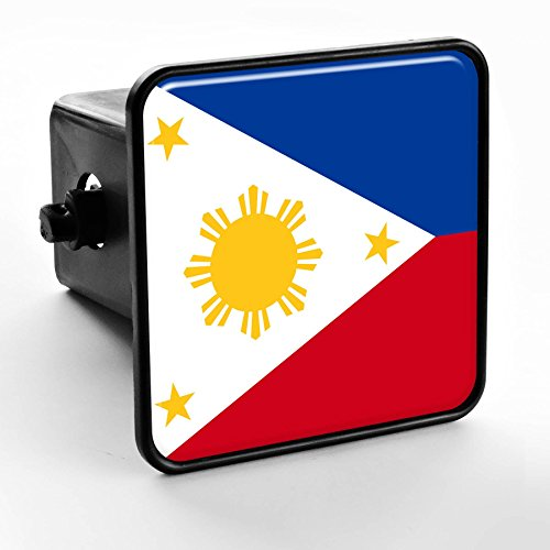 ExpressItBest Trailer Hitch Cover - Flag of Philippines Filipino,Pinoy