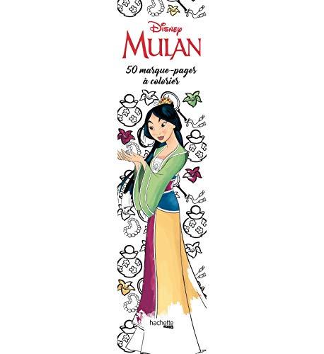 Marque-pages Disney Mulan: 50 marque-pages à colorier